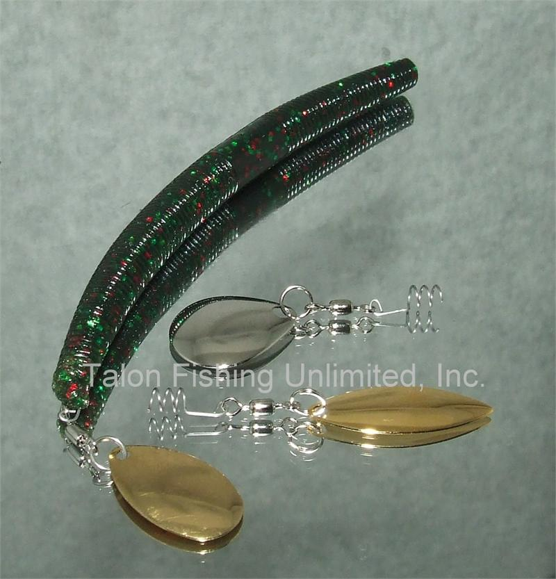 Talon worm blades worm blingtm for your mj rig for Best plastic worms for bass fishing